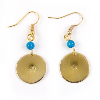 Bedouin Brass Earrings - Shams