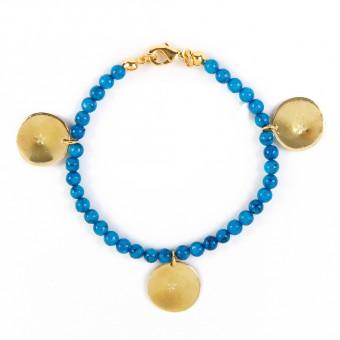 Bedouin Brass Bracelet - Shams (Turquoise)
