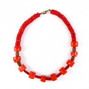 Bedouin Necklace - Coral