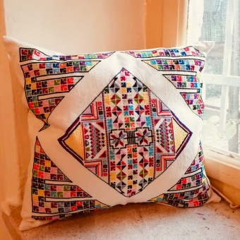 Embroidered Cushion Cover - Suleiman Mansour