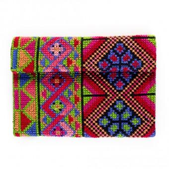 Cross-stitch Wallet (Light Green)