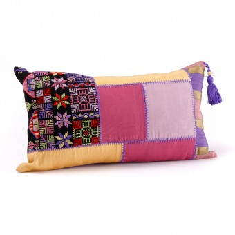 Embroidered Cushion Cover - Patchwork