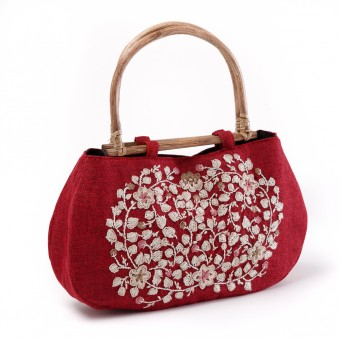 Floral Handbag (Red)