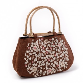 Floral Handbag (Brown)