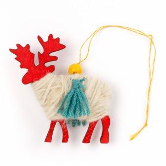 Bedouin Wool Ornament (Reindeer)