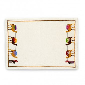 Embroidered Placemat - Desert Caravan