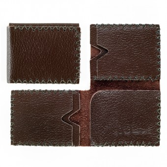 Three-face Leather Wallet