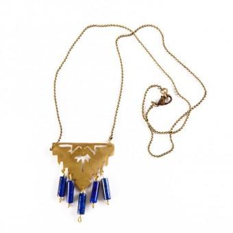 Bedouin Brass Pendant - Henna