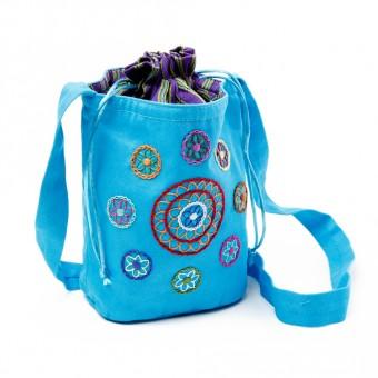 Draw String Shoulder Bag (Light Blue)