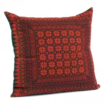 Embroidered Cushion Cover - Damask Rose