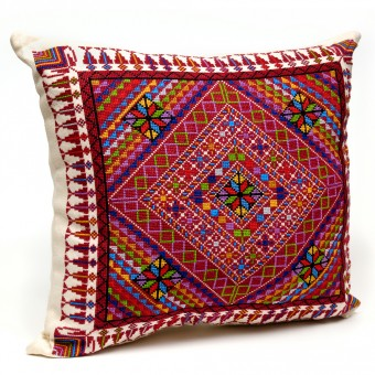 Embroidered Cushion Cover - Mosaic