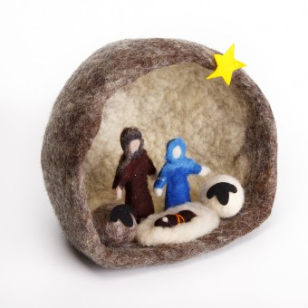 Felt Nativity Grotto - Large