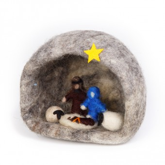 Felt Nativity Grotto - Medium