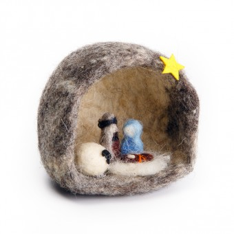 Felt Nativity Grotto - Micro