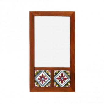 Mirror with Two Arabesque Tiles