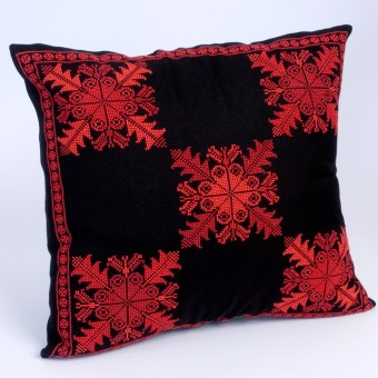 Embroidered Cushion Cover - Spider