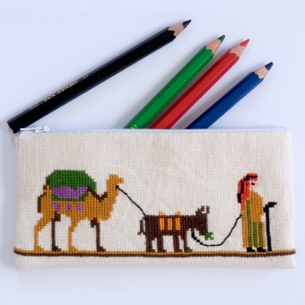 Pencil Case - Desert Caravan