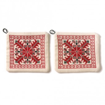 Embroidered Potholders - Hebron