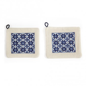 Embroidered Potholders - Canaanite Stars