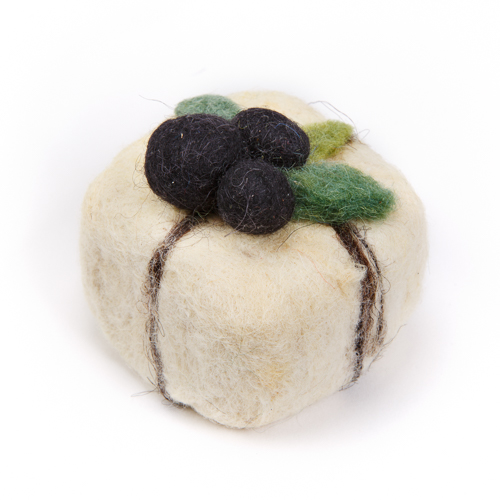 Felt-wrapped Olive Oil Soap