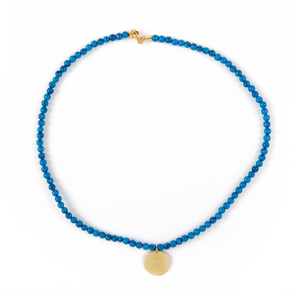 Bedouin Brass Necklace - Shams (Turquoise)