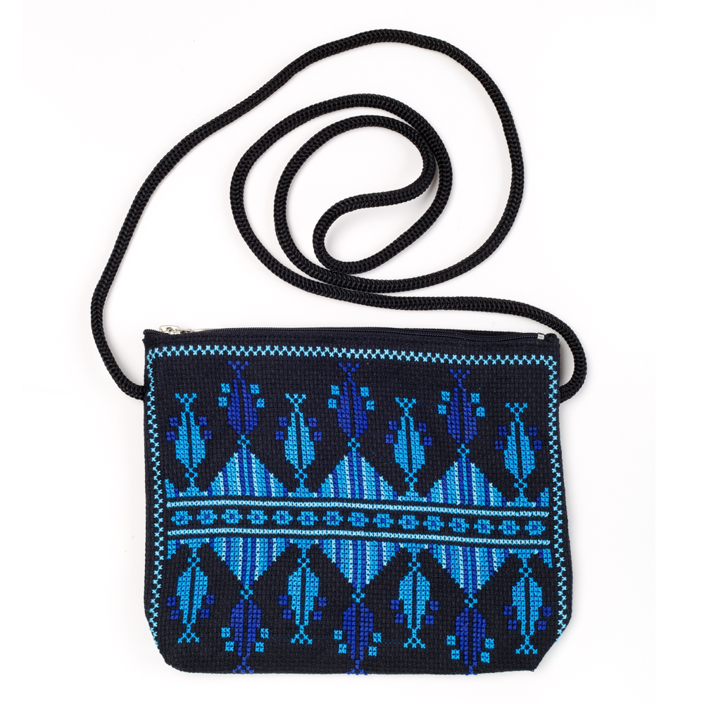 Idna Small Shoulder Purse (Blue)