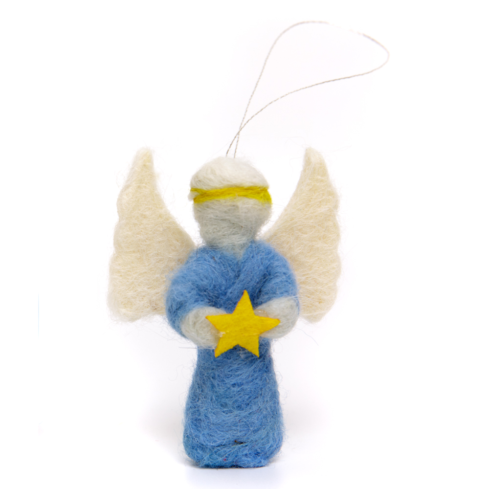 Felt Angel Ornament - Star
