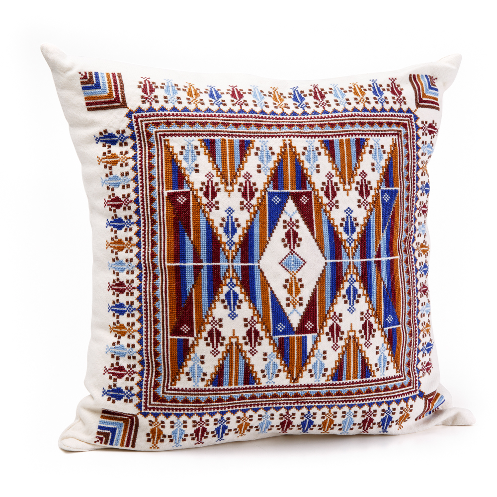 Cushion Cover - Blue and Brown Sarwa