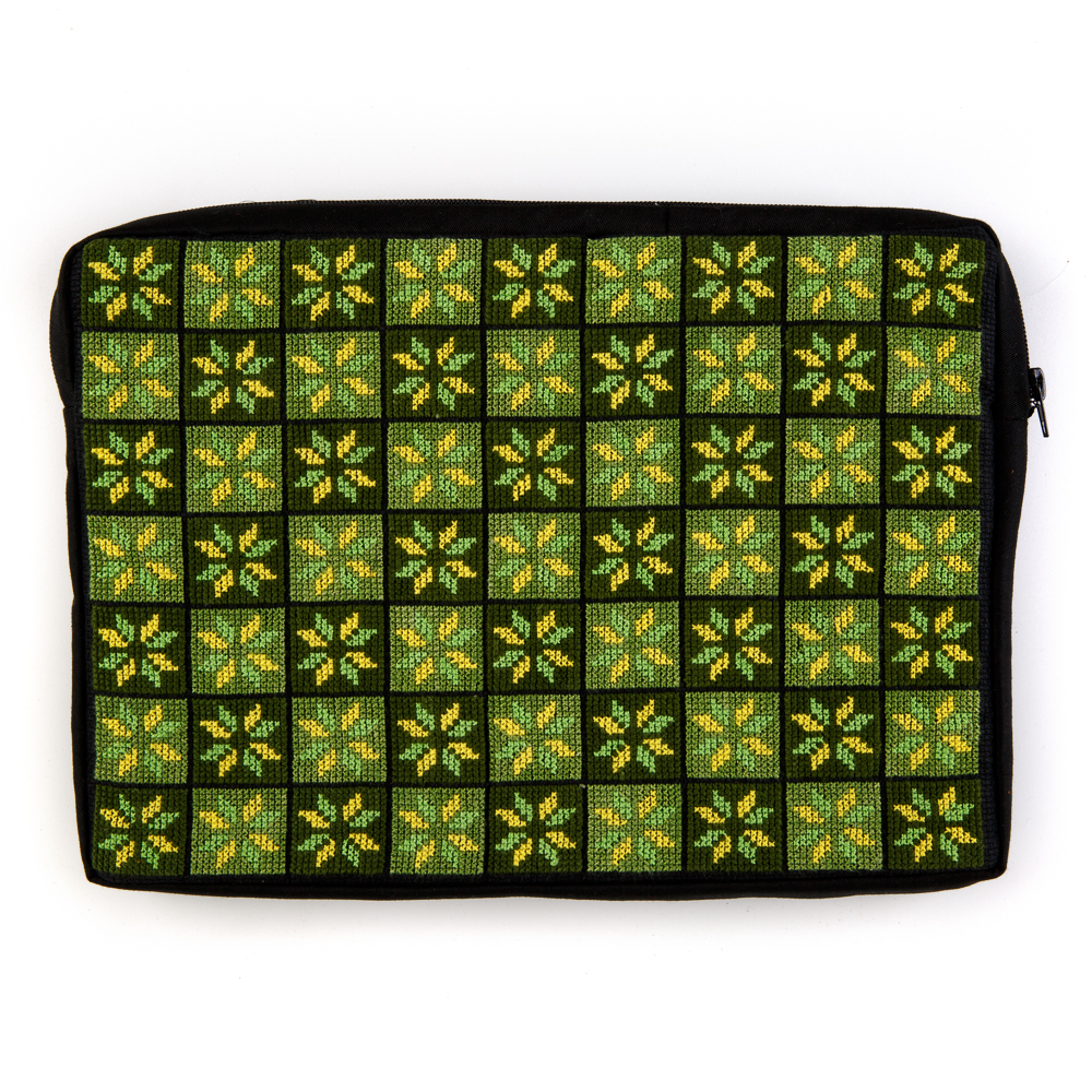 Embroidered Laptop Case (Green)