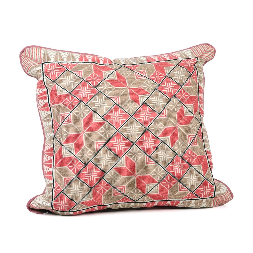 Cushion Cover - Canaanite Star (Peach)
