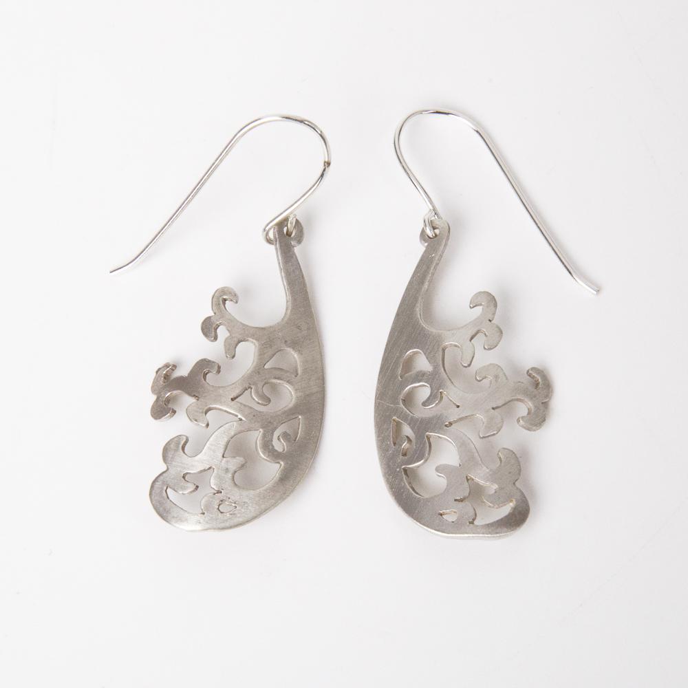 Silver Earrings - Olive Tree