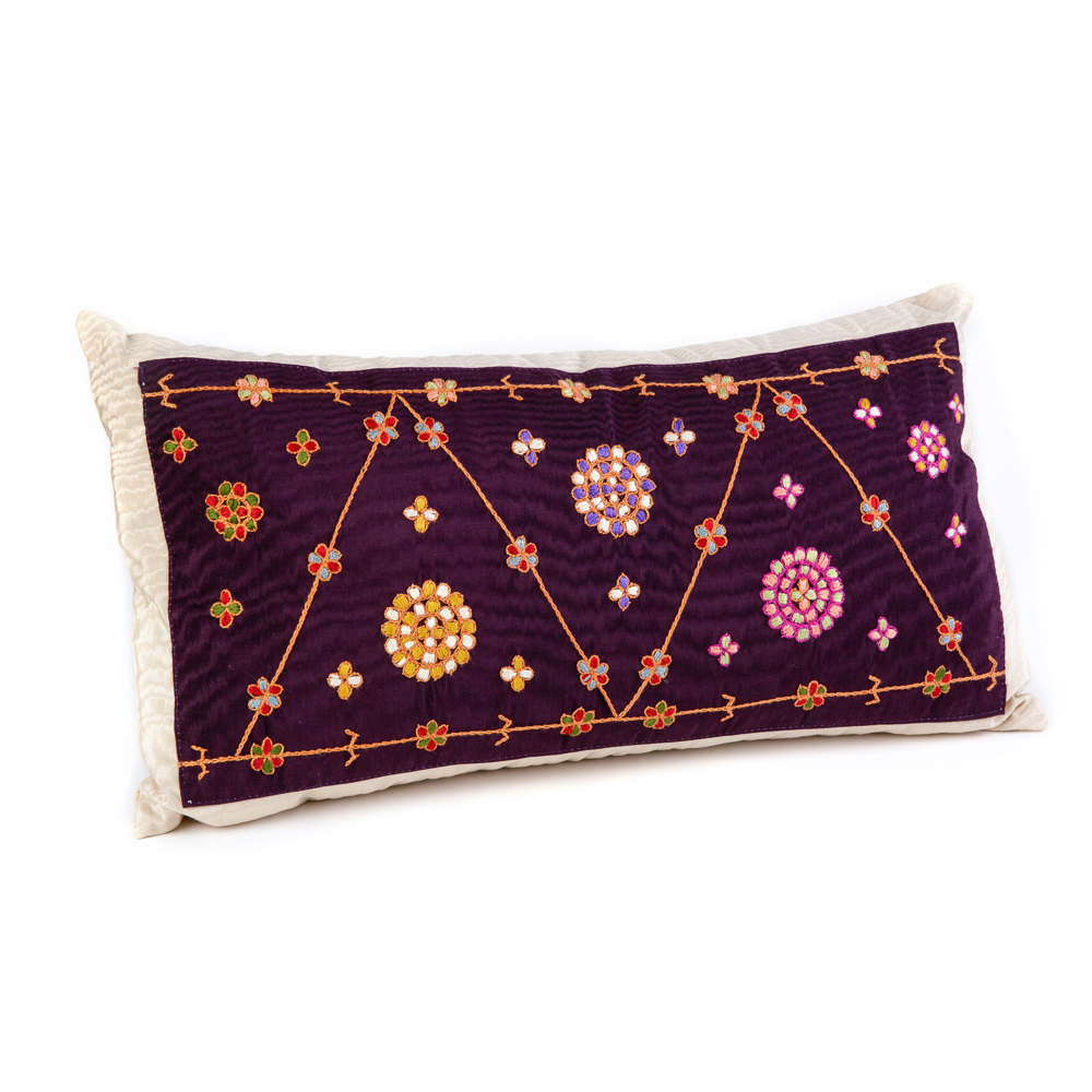 Embroidered Cushion - Almond Flowers