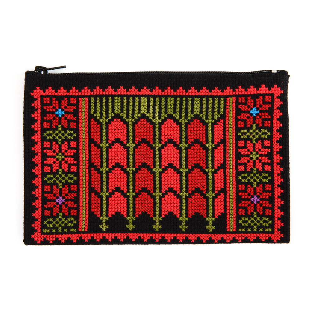 Make-up Purse - Date Palms (Red)