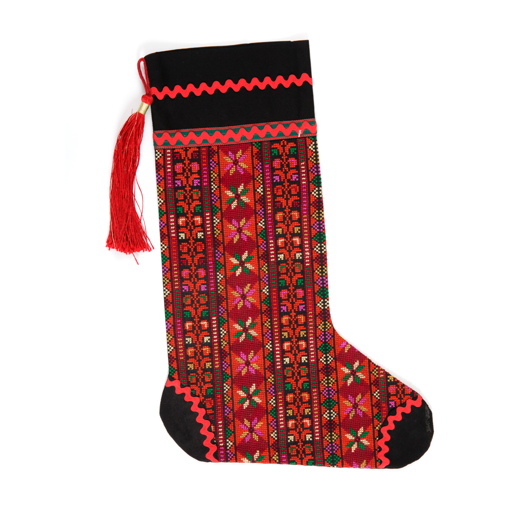 Embroidered Christmas Stocking (L)