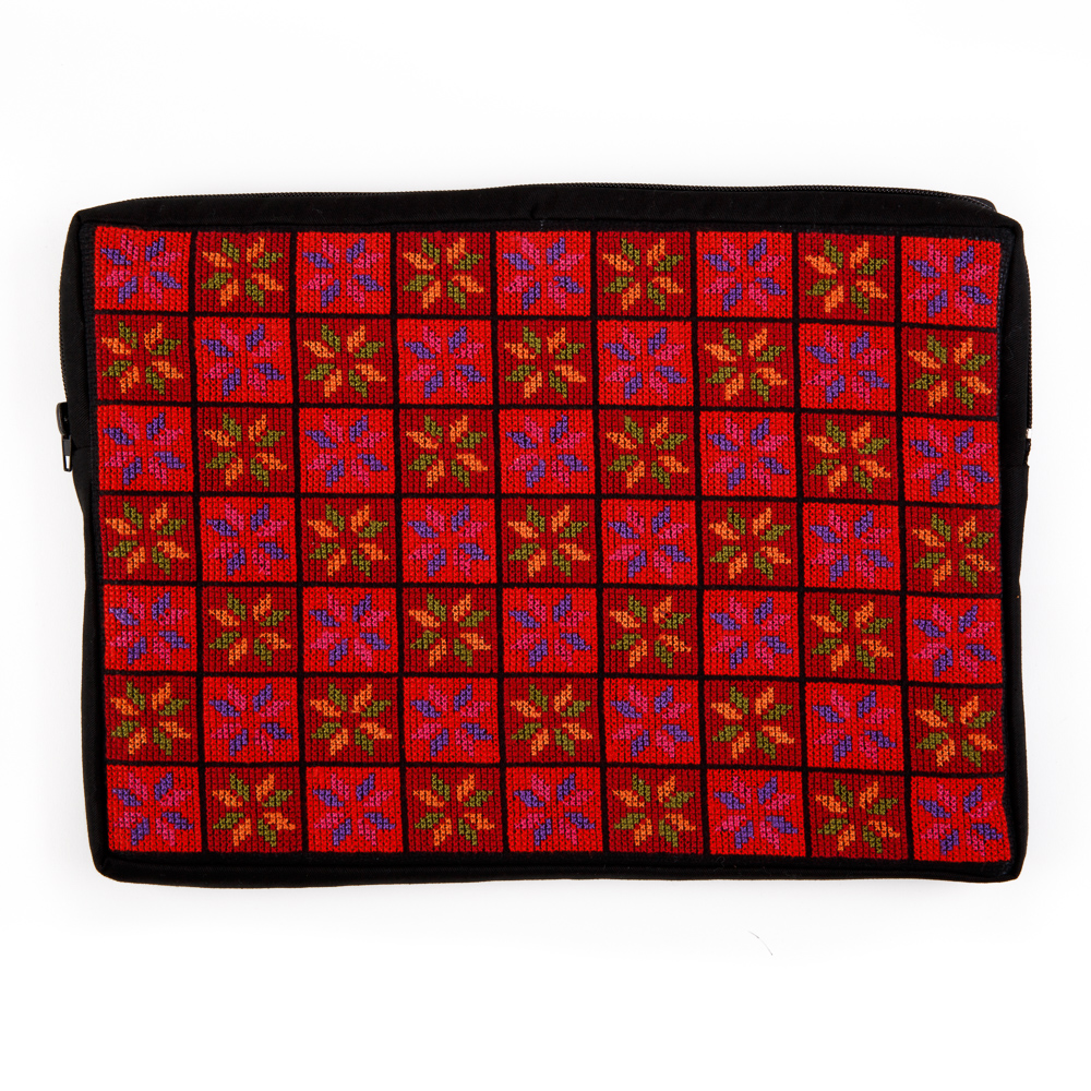 Embroidered Laptop Case (Red)