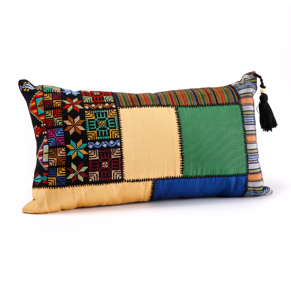 Cushion Cover - Gaza Patchwork (Green)