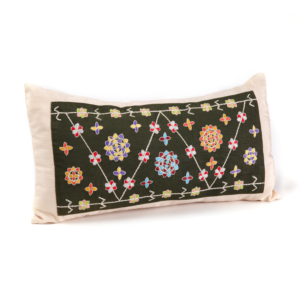 Cushion - Almond Flowers (Olive)