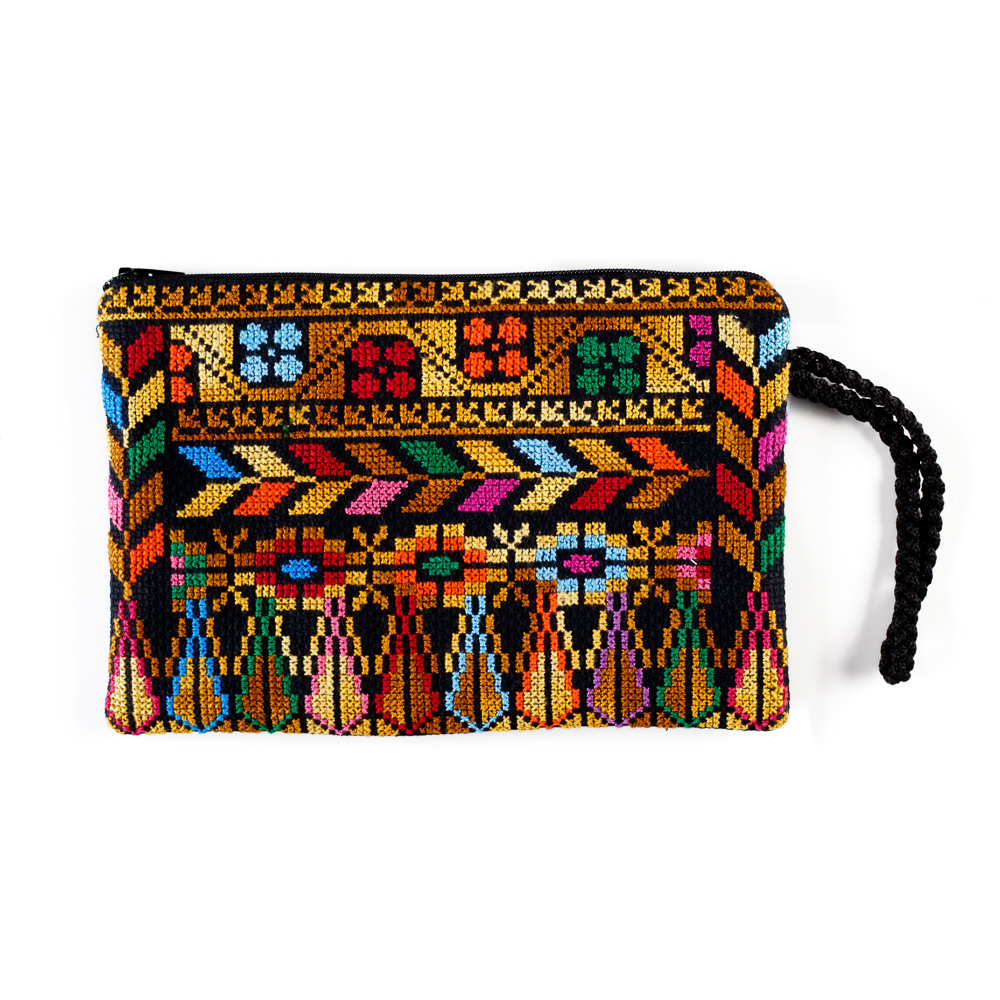 Bethlehem Clutch with Crocheted Strap (Camel)