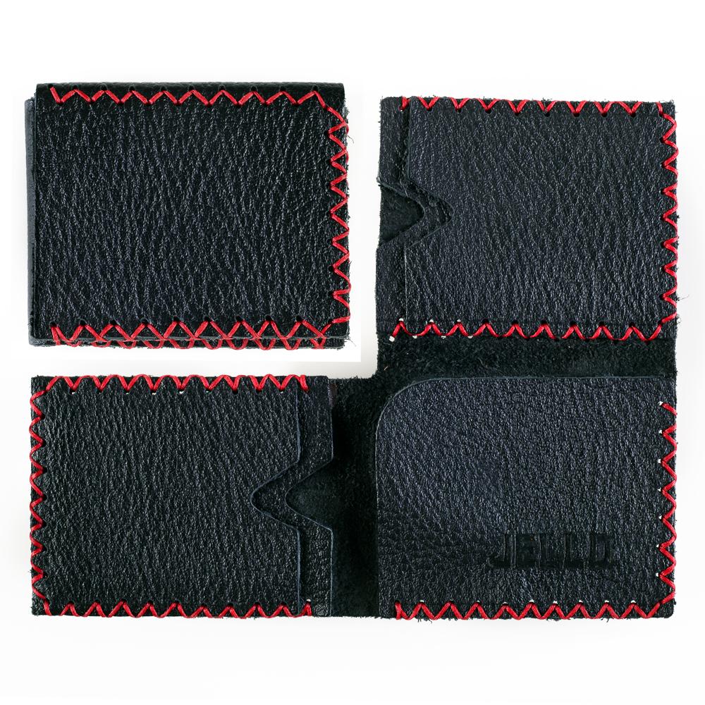 Three-face Wallet - Black