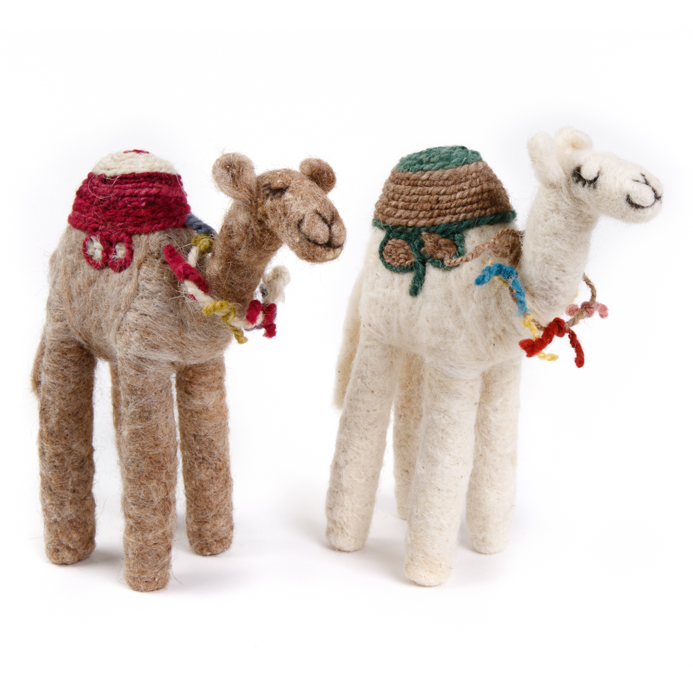Bedouin Needle-felted Camel (L)