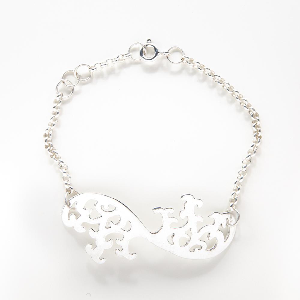 Silver Olive Tree Bracelet