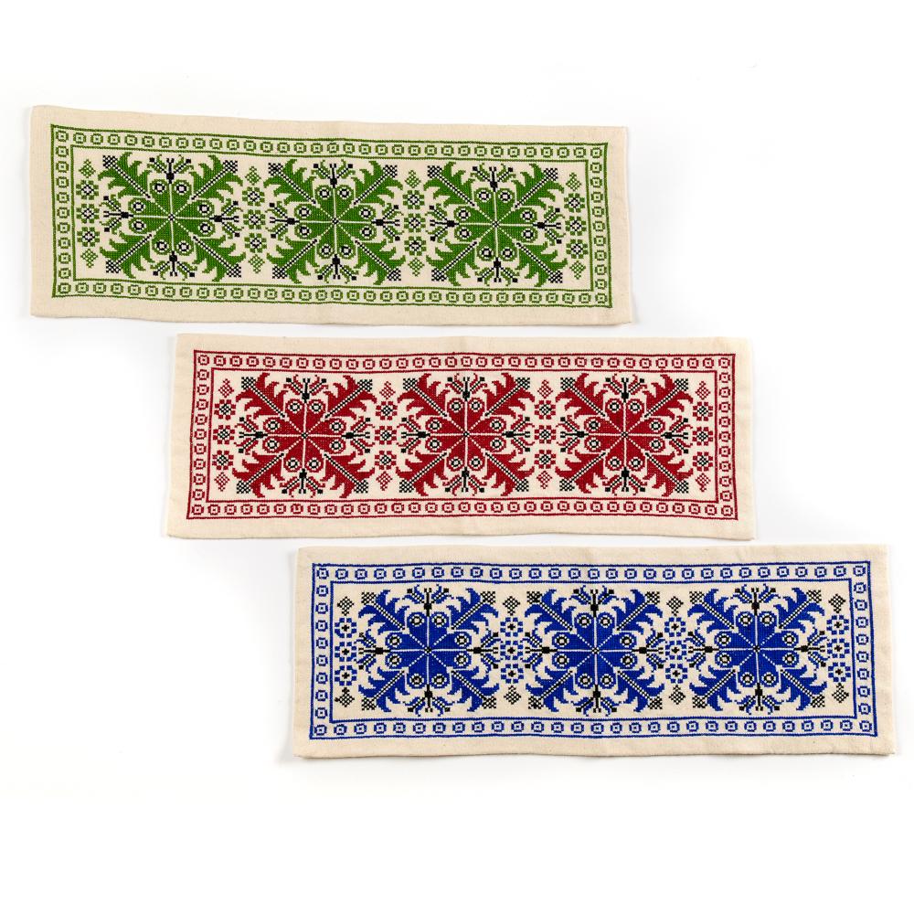Embroidered Table Runner - Scissors Motif