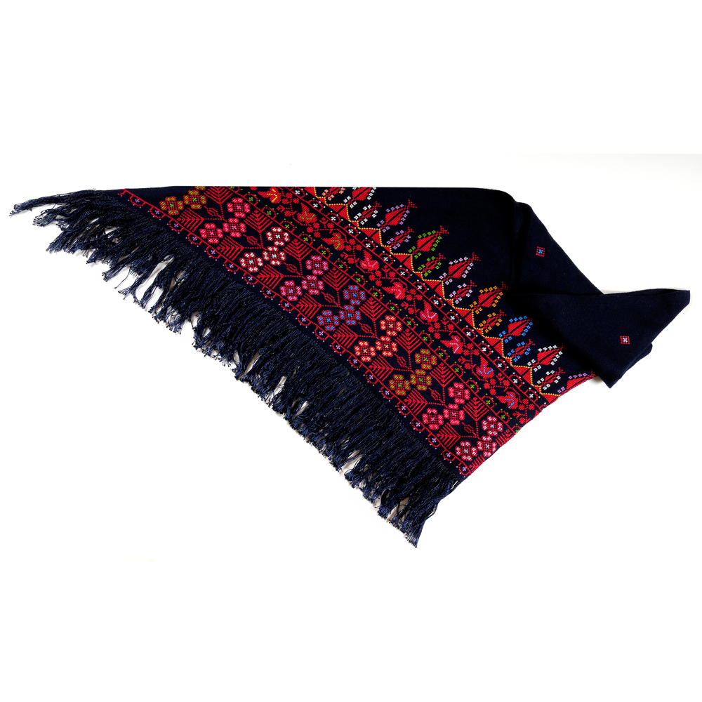 Shawl - Nature (Multicolor on Black)