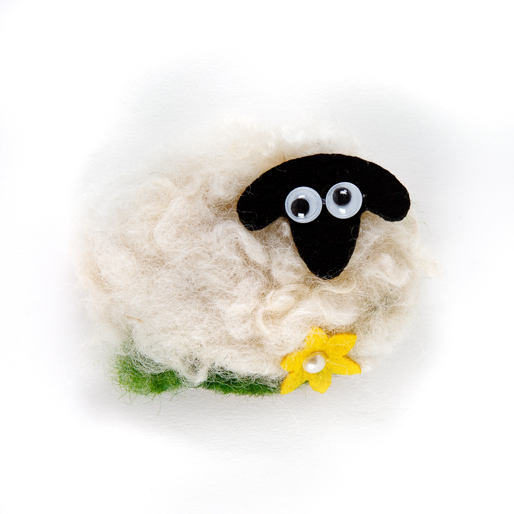 Felt Sheep Fridge Magnet