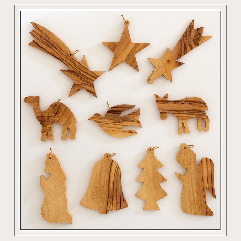 Olive Wood - Assorted Ornaments