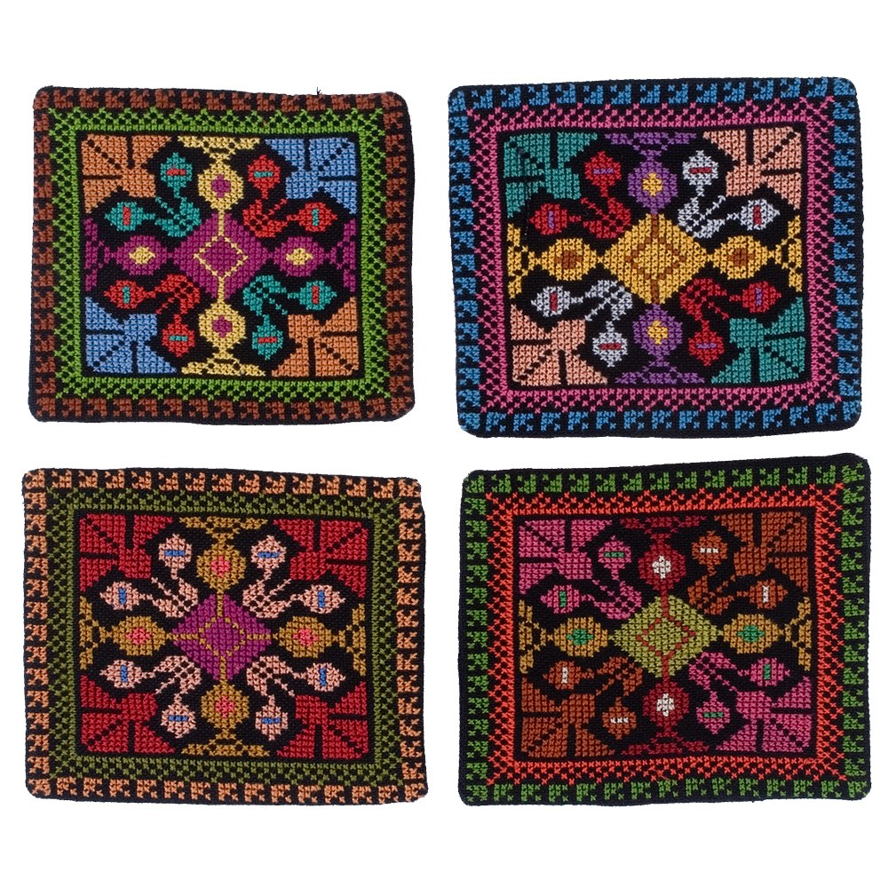 Embroidered Coaster - Gaza