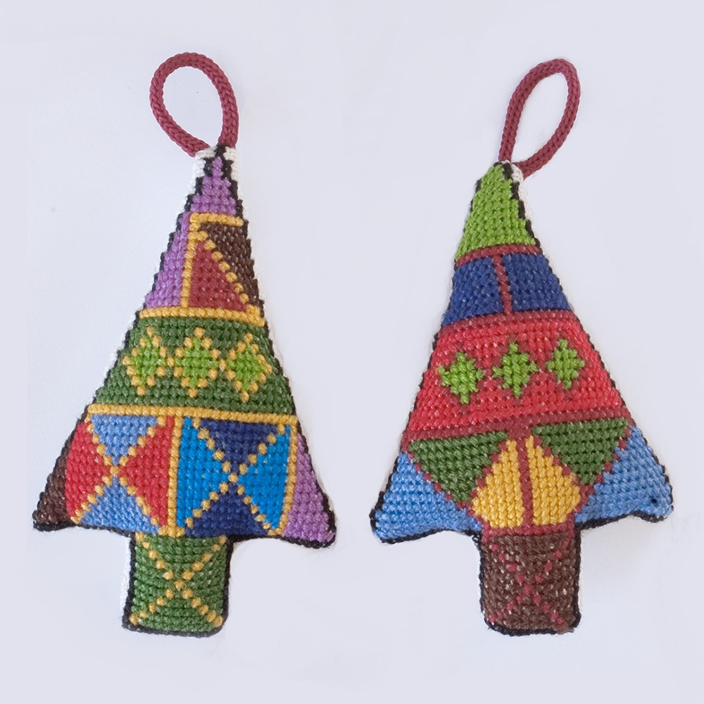 Ornament - Embroidered Tree