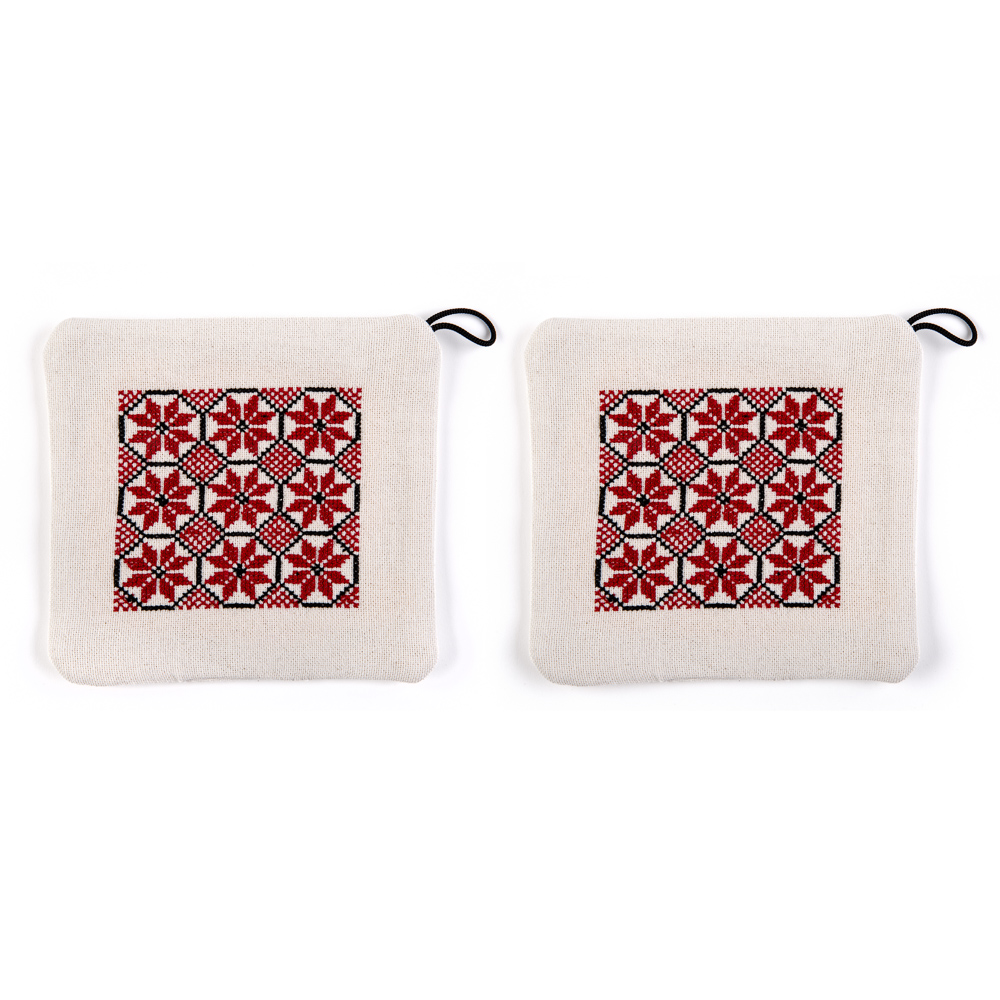 Potholders - Canaanite Stars (Red)